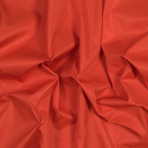 Red Orange Water-Resistant Polyester Twill