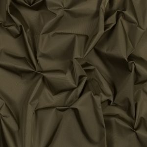 Brown Olive Water-Resistant Polyester Twill