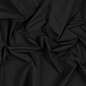 Black Water-Resistant Polyester Twill