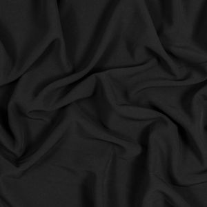 Black Stretch Polyester 4-Ply Crepe