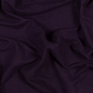 Plum Bamboo and Cotton Stretch Knit Fleece