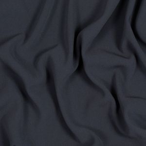 Charcoal Stretch Polyester Crepe