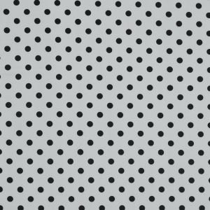 White and Black Polka Dotted Polyester Spandex