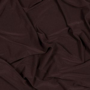 Chocolate Brown Stretch ITY Polyester Jersey