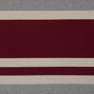 Burgundy, Oatmeal and Gray Awning Striped Jersey