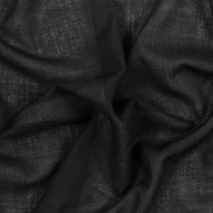 Black Loosely Woven Wool with Faint Chevron Pattern