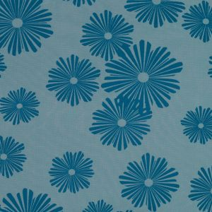 Blue Floral Printed Polyester Mesh