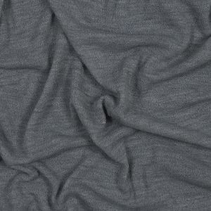 Blue Gray Loosely Woven Stretch Wool Crepe