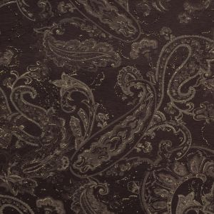 Brown Jersey with Taupe and Metallic Gold Paisley Top Coat
