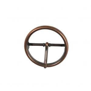 Copper Round Metal Buckle - 2
