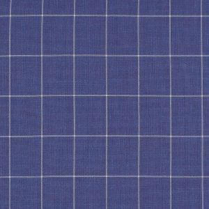 Purple and White Windowpane Check Super 150 Wool Suiting