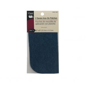 2 Faded Denim Blue Iron-On Patches - 5