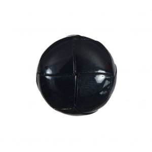 Dark Navy Glossy Leather Shank Back Button - 32L/20MM