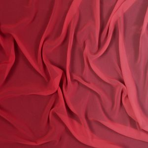 Red Ombre Polyester Chiffon