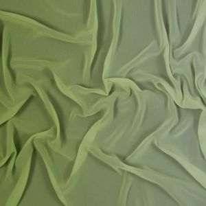 Parrot Green Ombre Polyester Chiffon