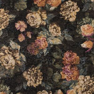 Metallic Gold Floral Jacquard with Additional Floral Print