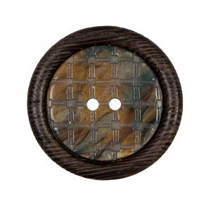 Brown Wooden 2-Hole Button - 42L/27mm
