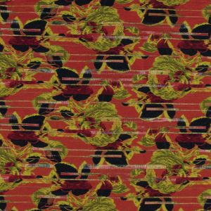 Jason Wu Navy, Red and Yellow Floral Brocade