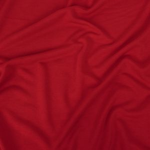 Red Solid Cupro Jersey