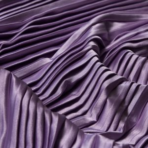 Radiant Orchid Pleated Stretch Satin