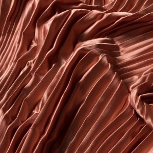 Creamsicle Pleated Stretch Satin