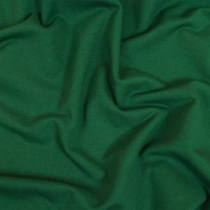 Forest Green Fleece-Backed Stretch Cotton Knit