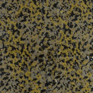 Italian Yellow and Taupe Laminated Polyester Jacquard