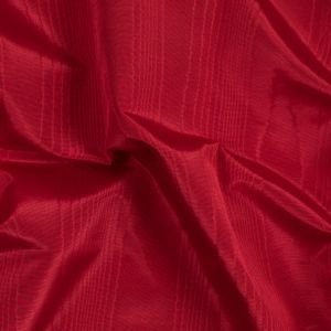 Valentine Red Polyester Moire Bengaline