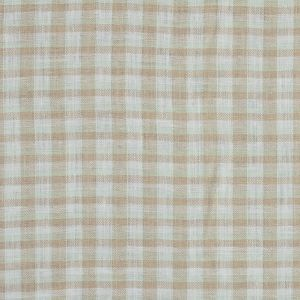 Beige, White and Mint Plaid Linen Woven