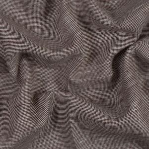 Brown and White Nailshead Linen Woven