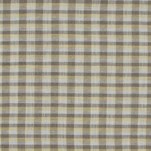 Roasted Cashew, White and Yellow Plaid Linen Woven
