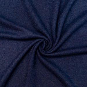 Navy Solid Boiled Wool