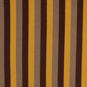 Italian Gamboge, Brown and Beige Awning Striped Printed Jersey