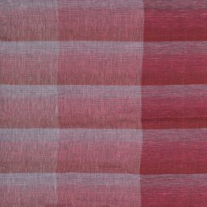 Italian Red, Pink and White Plaid Linen Scrim