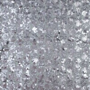 Silver Patterned Sequins over Gray Mesh