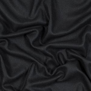 Black Basketwoven Wool and Cashmere Coating