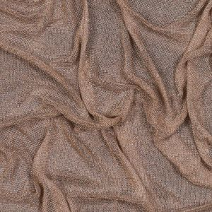 Rose Gold Plastic Chainmail Fabric