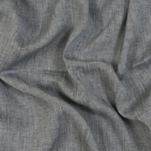 Sanremo Charcoal and Cream Two-Tone Linen Woven