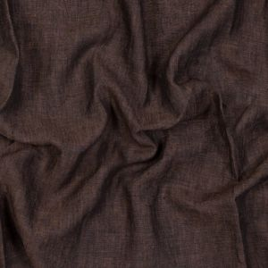 Sanremo Chocolate and Black Two-Tone Linen Woven
