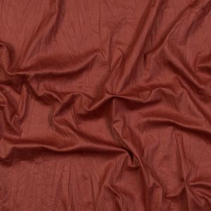 Ginger Orange Laminated and Wrinkled Faux Suede