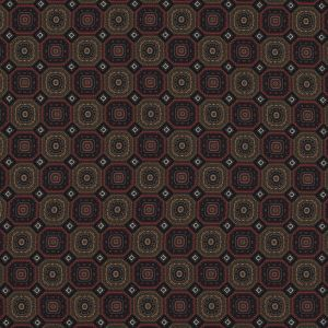 Olive and Red Geometric Polyester Chiffon