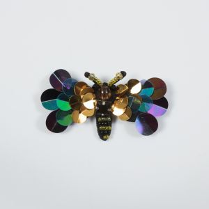 Italian Dragonfly Brooch with Sequins- 2.75