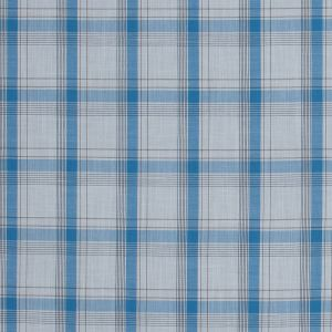 Blue and White Plaid Cotton Voile