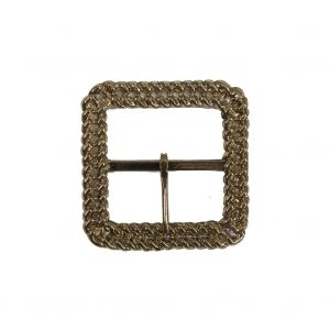 Gold Chain Link Metal Buckle - 2.625