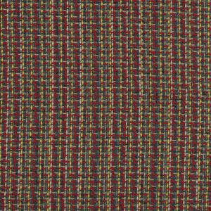 Red, Green and Yellow Woven Wool Tweed