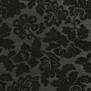 Deep Forest Green Floral Laminated Stretch Polyester Woven