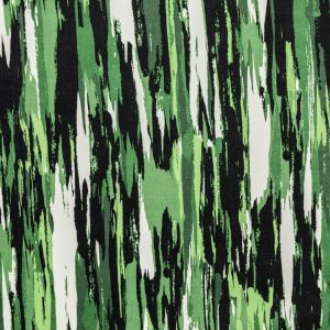 Green Abstract Stripes Stretch Cotton Corduroy