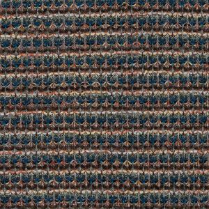 Italian Cobalt, Brown and Yellow Striped Wool Knit