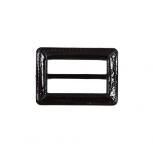 Dark Brown Laquered Leather Buckle - 2