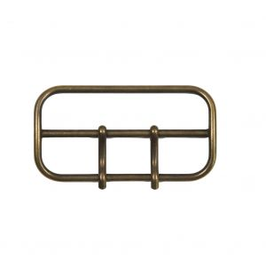 Antique Gold 2-Prong Metal Buckle - 3.5
